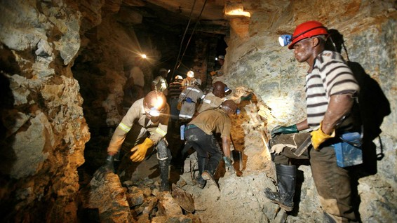 South Africa TauTona gold miners