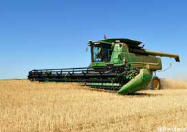 Canadian wheat harvesting PICN