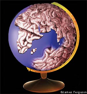 An illustration depicting the 'global brain'